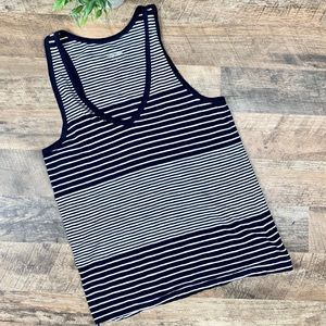 J Crew Vintage Collection Navy Striped Tank Size S